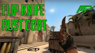 Cs Go Skins Flip Knife Rust Coat Battle Scarred Animations Youtube