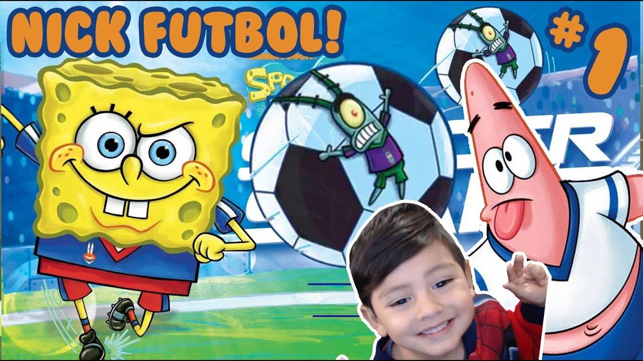 Futbol Con Bob Esponja Y Patricio Nick Soccer Stars Football Juegos Nickelodeon Para Niños