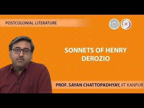 Lecture 10 -Sonnets of Henry Derozio