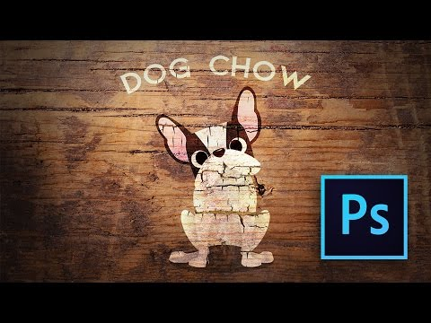 PHOTOSHOP Tutorial: Lean How To Create A Rustic Cracked Paint Image Overlay On Wood