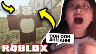 I TURNED INTO A MONKEY ON ROBLOX?! *WOW*
