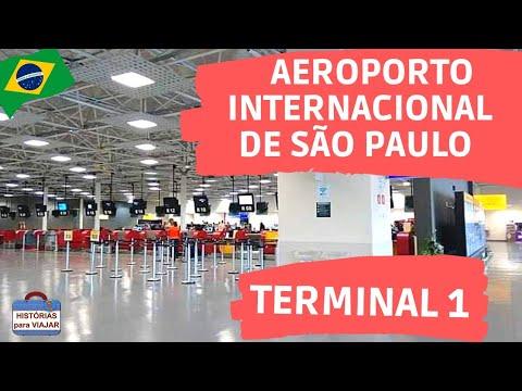 TERMINAL 1 - AEROPORTO INTERNACIONAL DE SÃO PAULO, BRASIL (TOUR COMPLETO)🇧🇷 - Histórias para Viajar