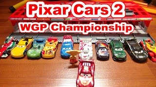 Pixar Cars World Grand Prix WGP Racers with Lightning McQueen Francesco Bernoulli  and more