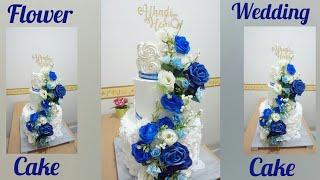 FLOWER WEDDING CAKE MEWAH DAN MURAH