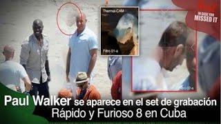 Fantasma de Paúl Walker aparece en el set de grabación RÁPIDO Y FURIOSO 8