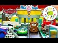 Cars 3 Flo's V8 Cafe Dragstrip Playset With Lightning McQueen! Disney Pixar Fun Toy Cars For Kids