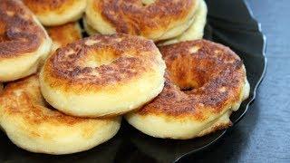 Быстрые творожные пончики к чаю на сковороде. Рецепт на завтрак