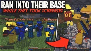 (FACECAM) I RAN INTO THEIR BASE WHILE THEY WERE TAKING SCREENIES   Minecraft HCF