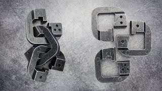 Hanayama cast Chain puzzle. Cheat solution + intended solution.