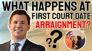 What happens at first court date or arraignment?