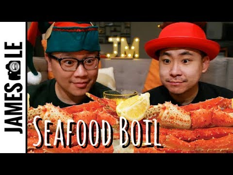ALASKAN KING CRAB MUKBANG SEAFOOD BOIL PART 6 🦀
