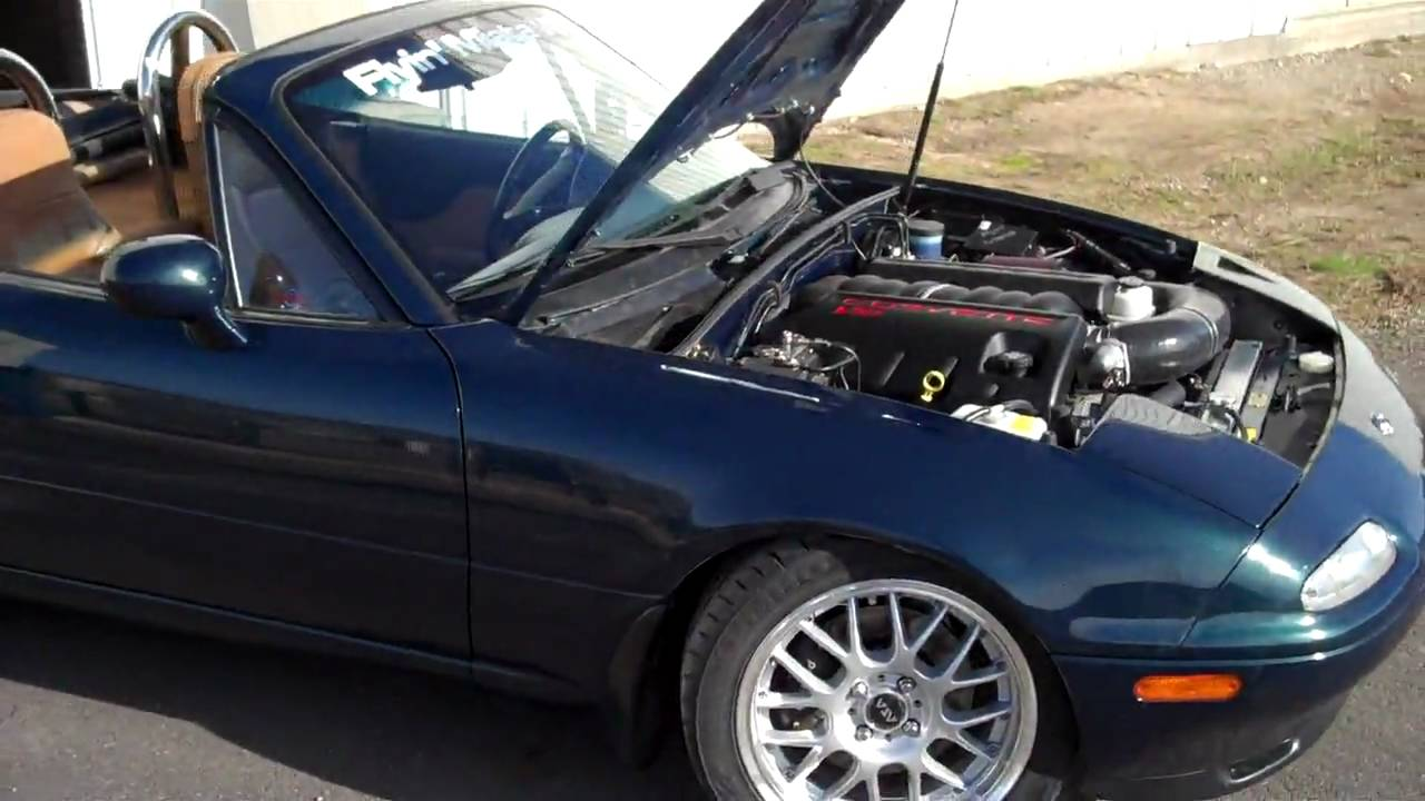 New Mazda Miata >> Walkaround of an LS3-powered Miata - YouTube
