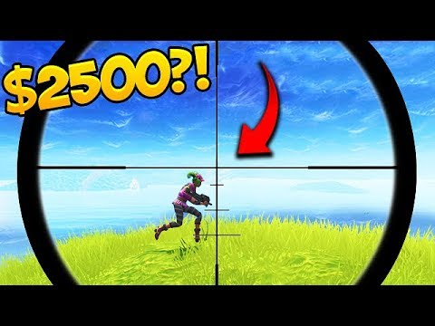 """I'll give you 2500$ if you hit this shot"" 😱- Fortnite Funny Fails #293"