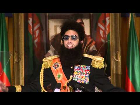The Dictator - Admiral General Alaldeen's New York Press Conference