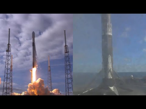 SpaceX Transporter-1 launch & Falcon 9 first stage landing