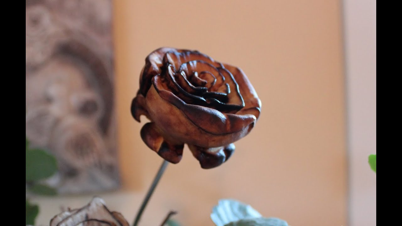Carving a wooden rose with dremel youtube