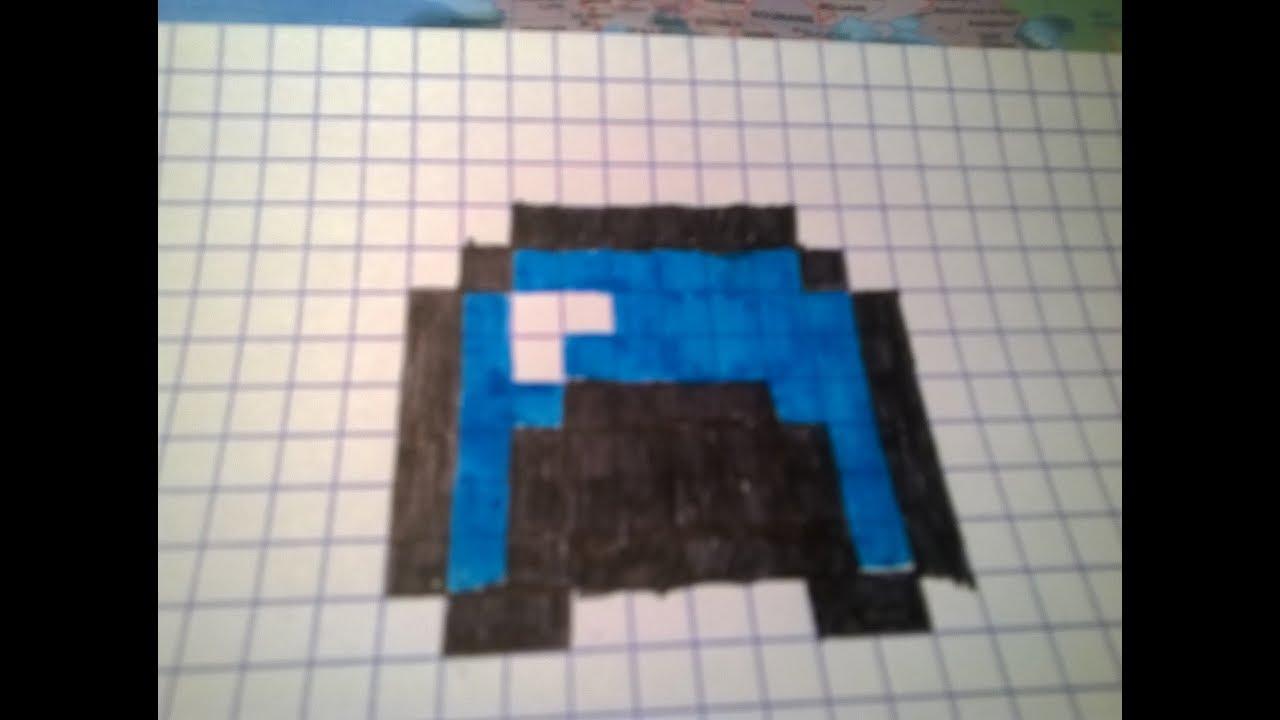 Tuto Pixel Art 1 Le Casque Minecraft Youtube