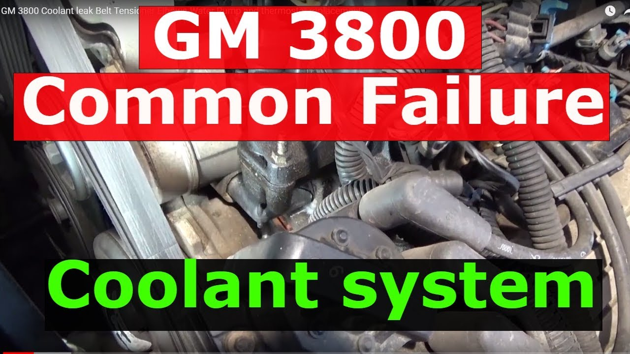 hight resolution of gm 3800 coolant leak belt tensioner elbows water pump and thermostat replacement