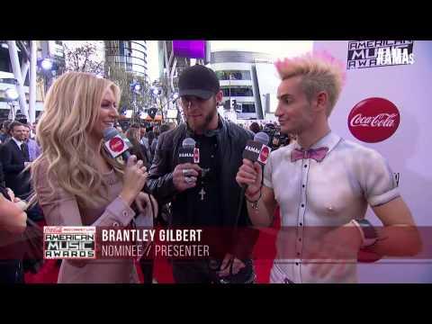 Brantley Gilbert Red Carpet Interview - AMAs 2014