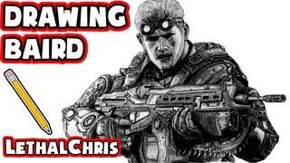 Drawing Baird - Gears of War: Judgment Fan Art Time Lapse