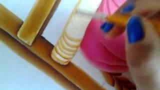 Baixar Pintura en tela niña con flores # 4 con cony
