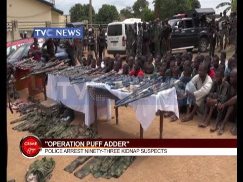 Crime Watch - Operation Puff Adder arrest more than 93 kidnap suspects and other stories