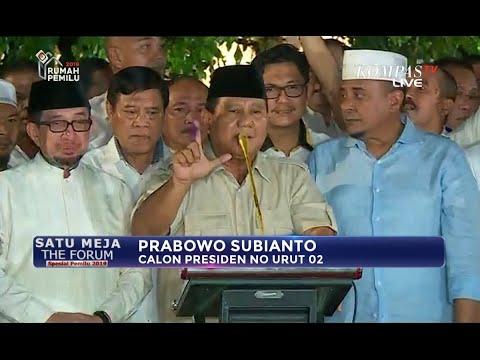 Prabowo: Hasil Real Count Kita Menang 62%