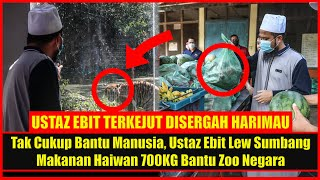 Tak Cukup Bantu Manusia, Ustaz Ebit Lew Sumbang Makanan Haiwan 700KG Bantu Zoo Negara, Mulianya Hati