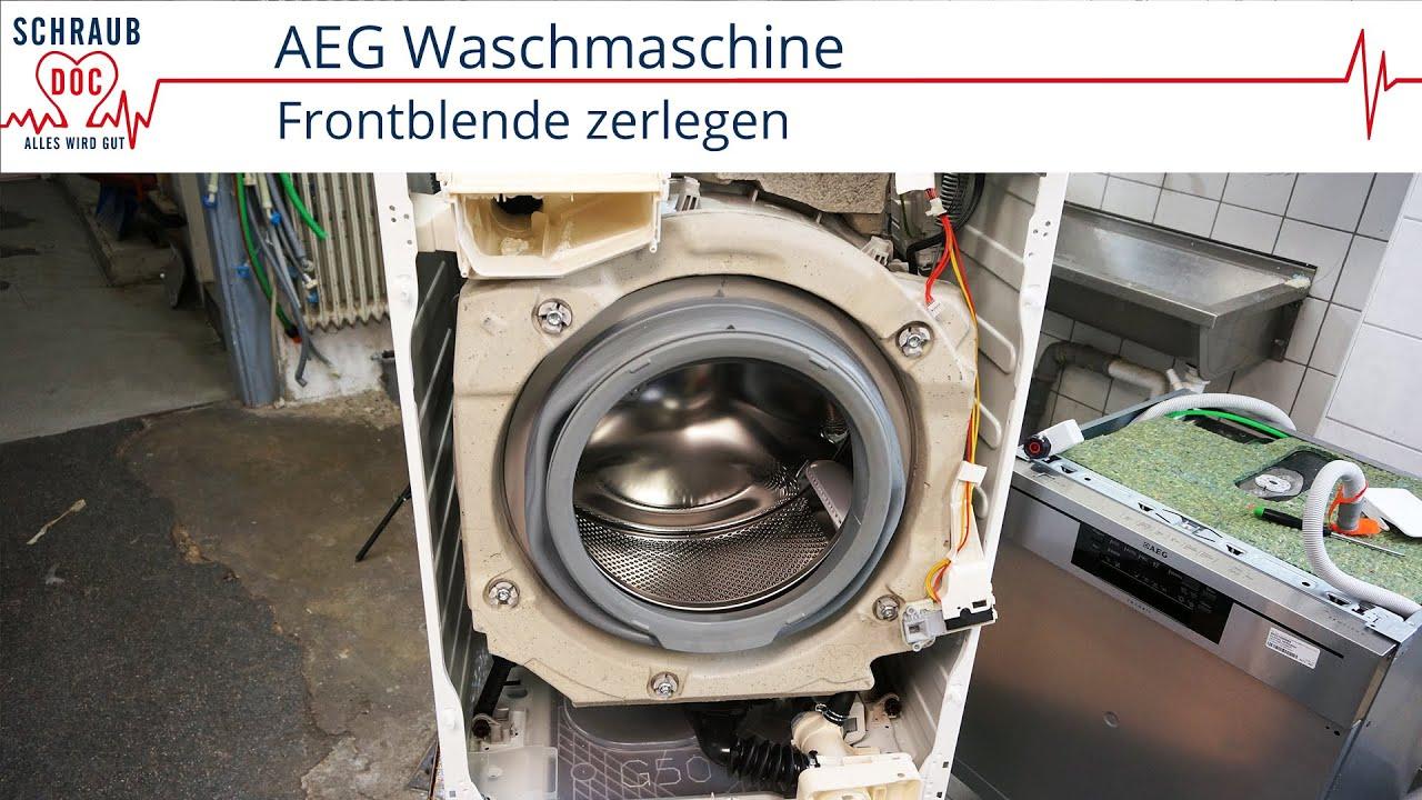 aeg waschmaschine reparieren frontblende zerlegen youtube. Black Bedroom Furniture Sets. Home Design Ideas