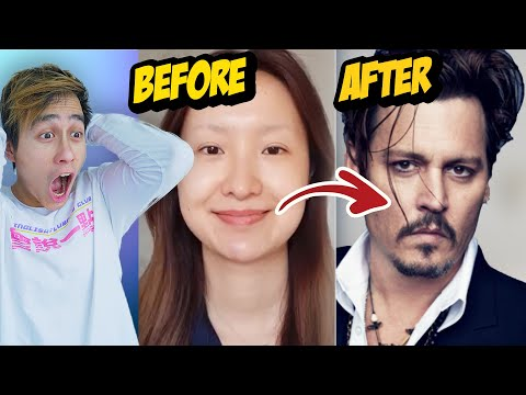 Chinese Johnny Depp Makeup Transformation PROVES Makeup Is a LIE (TIK TOK CHINA)