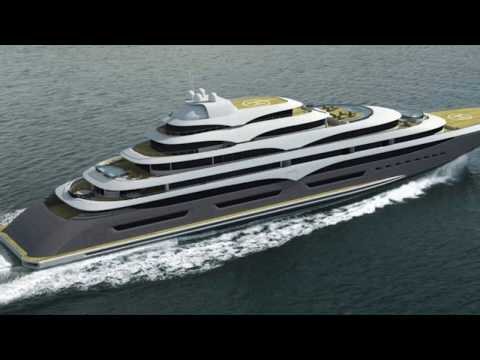 127 meter unfinished Super yacht for sale at huge discount