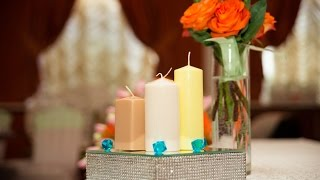 Зеркальные стойки для украшения свадеб