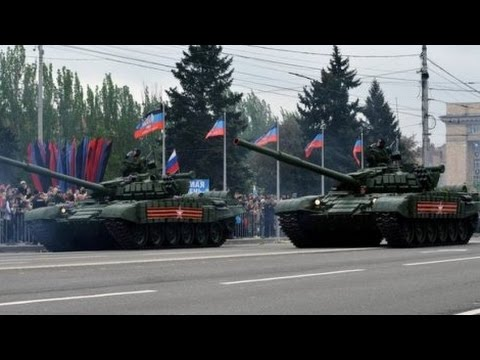 Parade of Russian Tanks in Occupied Donetsk. 9 May 2017.