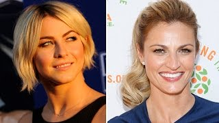 Erin Andrews reacts to Julianne Hough
