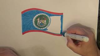 Learn geography for kids How to draw a flag Belize