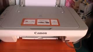 МФУ Canon Pixma MG2440  Распечатка цветных документов(В этом видео мы проведём тест как будет происходить печать цветных документов после подкачки чернил в карт..., 2014-07-06T08:58:00.000Z)