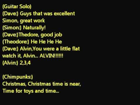 alvin and the chipmunks---christmas don't be late Lyrics.wmv