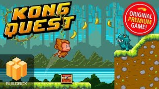 NEW: Kong Quest - Platformer Game - BuildBox (BBDoc) Mobile Game Template For Reskinning!