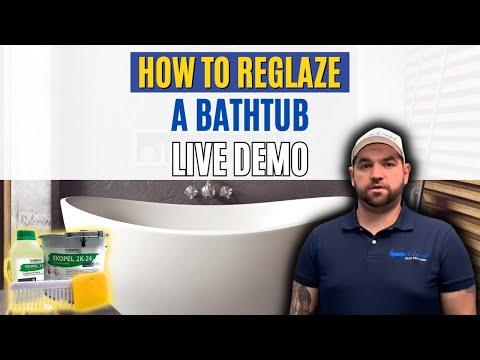 Live Bathtub Reglazing How To Featuring Ekopel 2K Bathtub Refinishing Kit