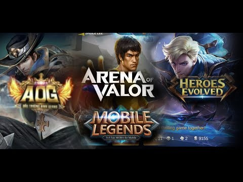 Arena of Valor vs Mobile Legends vs Heroes Evolved vs Arena of Glory - Quick map comparison