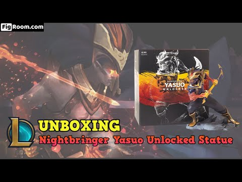 Unbox/Mở hộp mô hình Liên Minh Huyền Thoại: Yasuo Ma Kiếm - Yasuo Nightbringer Unlocked Statue