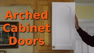 Making $12 Arched Cabinet Doors