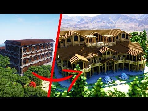Minecraft Woodland Mansion EXTREME Transformation!   Part 1