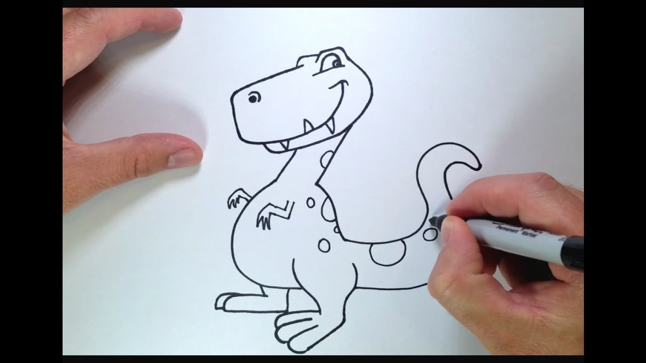 T Rex Drawing For Kids
