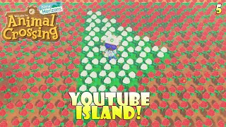 Making a YouTube-Themed Island Part 5 - PATHING! | Animal Crossing New Horizons