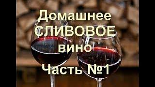 Домашнее вино из СЛИВЫ !!! ПРОСТОЙ РЕЦЕПТ Часть 1