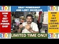 HOW TO GET EBAY POWERSHIP AND INCREASE LISTING LIMIT ON EBAY