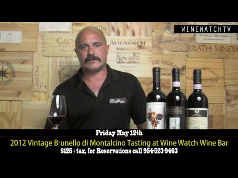 2012 Vintage Brunello di Montalcino Tasting at Wine Watch Wine Bar - click image for video