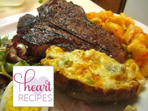 Dinner For Two T Bones Steaks Loaded Twice Baked Potatoes And