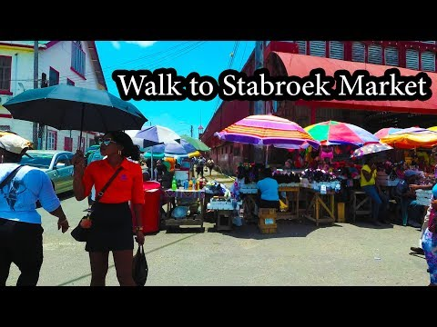 4K Georgetown Guyana - Walk to Famous Stabroek Market - Sept 2017